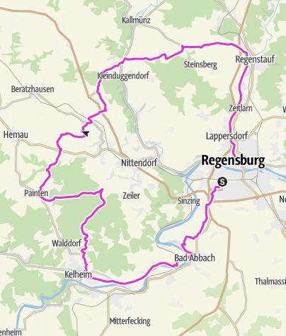 Karte / Feierabendrunde 4-Täler Tour 100km