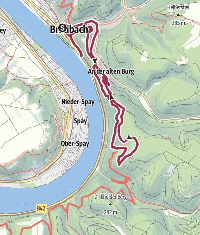 Karte / Köhlerweg in Braubach