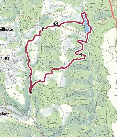 Karte / Ebni - Strümpfelbacher Wasserfälle und Ebnisee