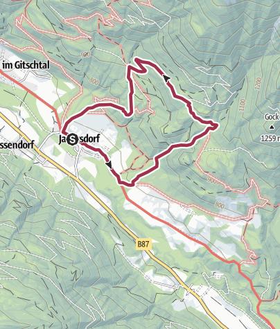 Karte / Weißenbachklamm bei Jadersdorf im Gitschtal