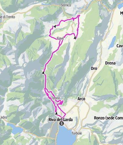 Map / Fiavé - Ponte Arche - Poia