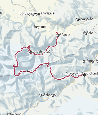 Map / Borjomi-Kharagauli National Park - Georgien
