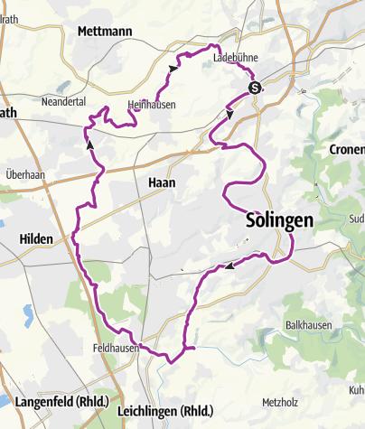 Karte / 001 Vatertagstour Wuppertal-Solingen-Schöller 2017