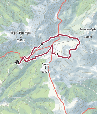 Karte / Mittagerrunde im Wandergebiet Meran 2000