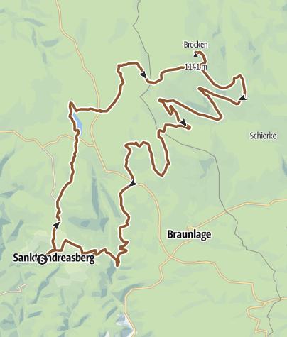 Karte / #MTB-Tour STA-Brocken-STA