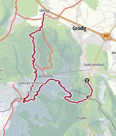 Karte / Untersberg üb. Kienbergkopf