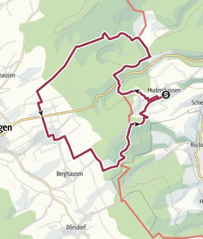 Karte / Mudershausen-Hohlenfels-Einrich-Mattenbach