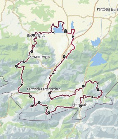 Map / Spitzenwanderweg Zugspitz Region