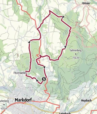 Karte / Aus-und Weitblicke am Gehrenberg