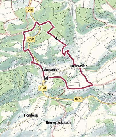 Karte / rund um Langweiler und Merzweiler