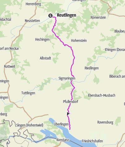 Karte / Swabian Alb -- Lake Constance