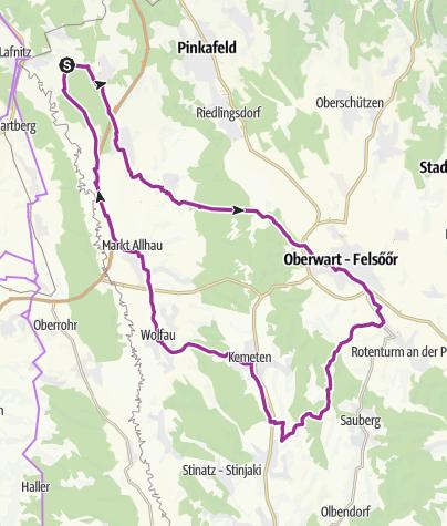 Karte / Sportverein Radtour 2017