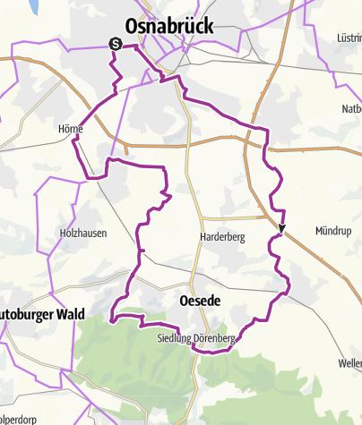 Karte / Von Osnabrück über Kloster Oesede nach G-M-Hütte und zurück