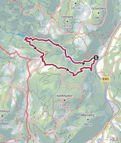 Karte / Almbachklamm