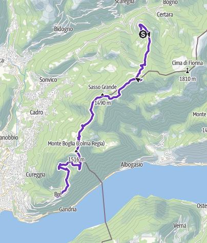 Map / Denti della vecchia from Cimadera