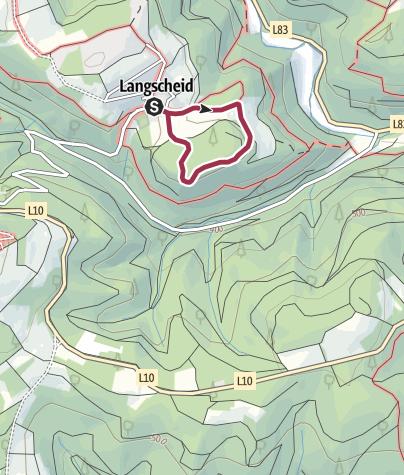 Karte / Langscheid ~ Bolzplatzrunde - schwarzer Punkt