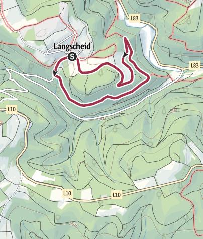 Karte / Langscheid ~ Steinkaulweg - blauer Punkt