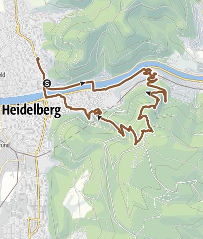 Karte / Königsstuhl mountainbiking - grueling uphill singletrails