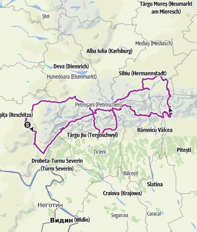 Karte / Romaniax Tour 1