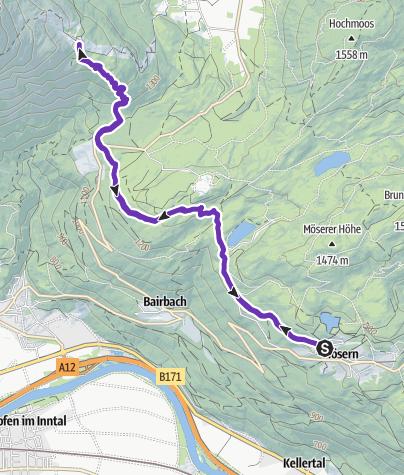 Karte / Mösern - Rauthhütte - Mösern