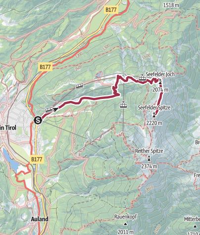 Karte / Seefeld -Seelfelder Spitze