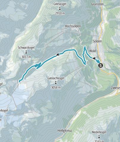 Karte / Ötztaler Gletscherstraße