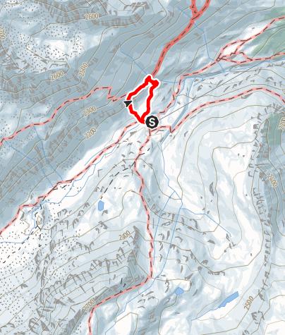 Karte / Edelweißklettersteig von der Franz Senn Hütte