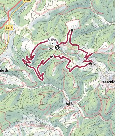 """Karte / """"Alter 5er"""" - Rundwanderweg in Arft"""