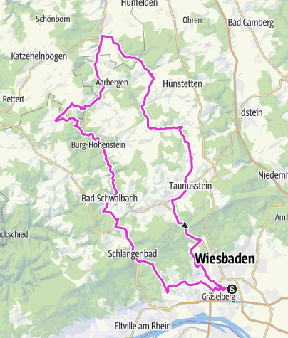 Karte / Wiesbaden-Hotel-Rose-Rundtour