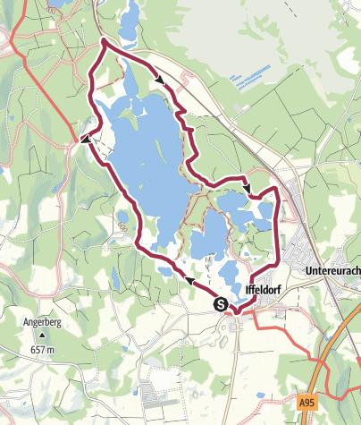 Karte / Osterseen-Umrundung von Iffeldorf aus