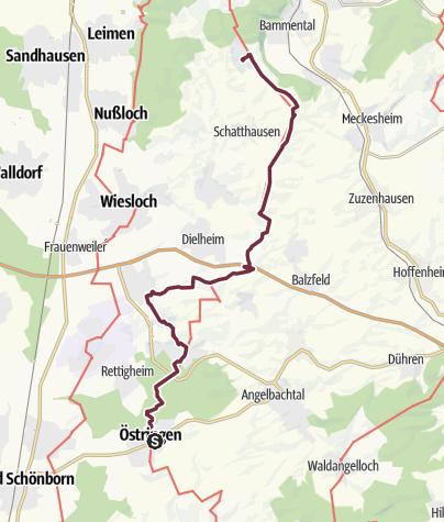Karte / 20 Östringen - Gauangelloch