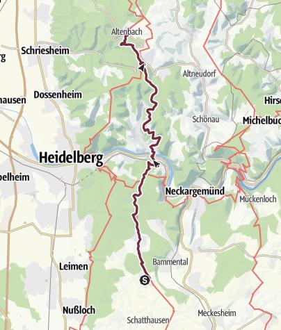 Karte / 21 Gauangelloch - Altenbach (Schriesheim)