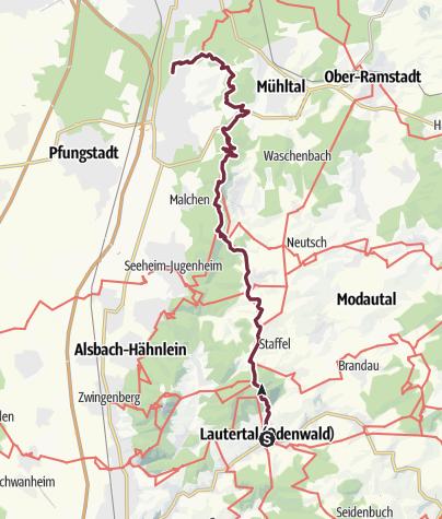 Karte / 24 Lautertal-Reichenbach - Darmstadt