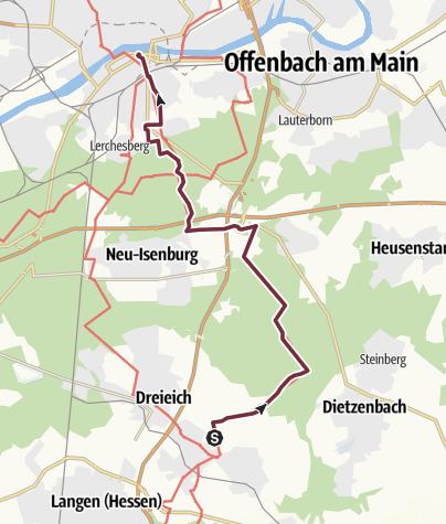 Karte / 26 Dreieich - Ffm DJH