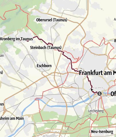 Karte / 27 Ffm DJH - Kronberg im Taunus