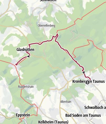 Karte / 28 Kronberg - (Glashütten-)-Schloßborn
