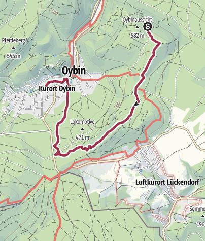 Karte / Kurort Oybin: Töpfer – Kelchstein – Almanka