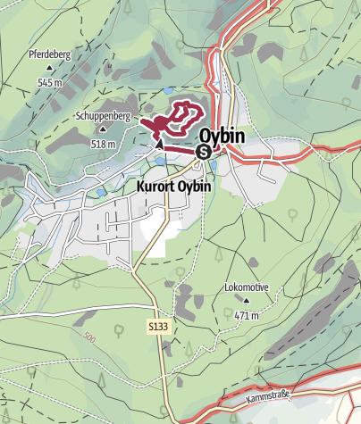 Karte / Oybin: Der Berg und das Trabbidach