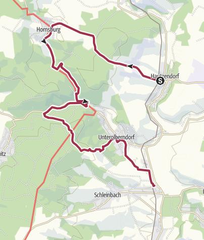 Karte / Über das Blumendorf Hornsburg ins Kreuttal