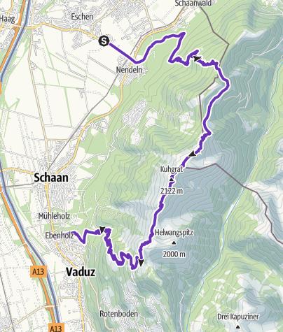 Map / Schaan - Drei Schwestern - Vaduz