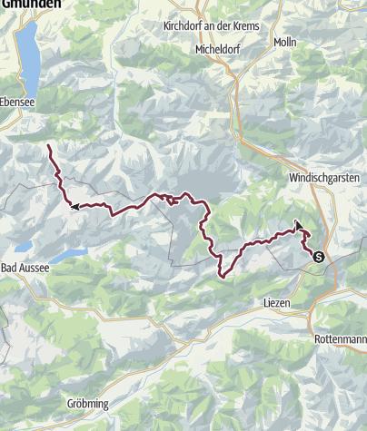Karte / Totes Gebirge Längsüberschrwitung