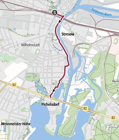 Karte / Von Spandau zum Grimnitzsee