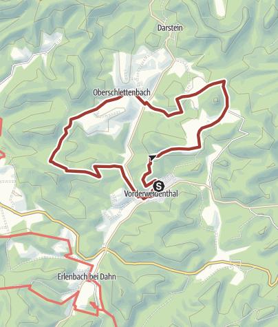 Karte / Rotsandsteinweg kurze Tour