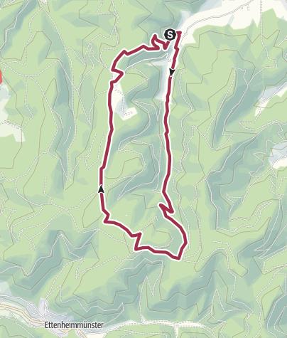 Karte / Kempfenhof - Ettenheimer Hütte - Hasenberg und zurück