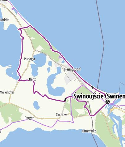 Mapa / Bansin-Uckeritz-wały Pudagla-Neppermin-Benz-Labomitz-Korswandt-Garz