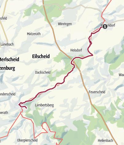 Karte / UnserWeg 06 Schönecken - Waxweiler