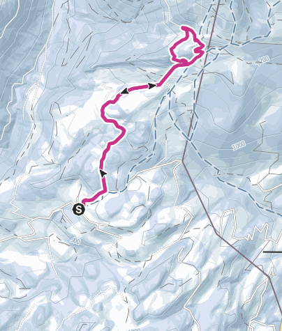 Mappa / Escursioni invernali sull'erlerberg