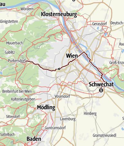 Karte / Jakobsweg Wien (neu)