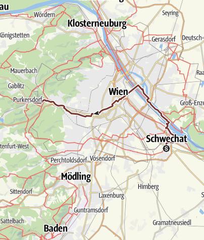 Map / Jakobsweg Wien (neu)