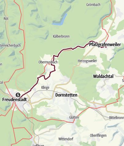 Karte / 14 Freudenstadt - Pfalzgrafenweiler